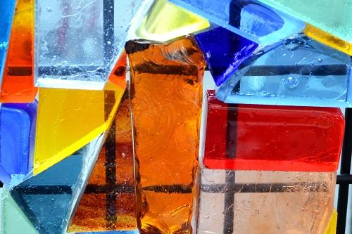 Vitrail art déco fenêtre